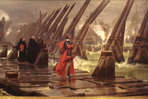 """""""Le cardinal Richelieu au Siège de La Rochelle"""" de Henri-Paul Lamotte ( 1881) - Musée des Beaux Arts de La Rochelle"""