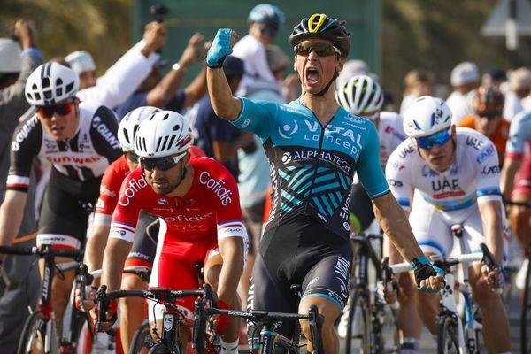 Bryan Coquard de l'équipe Vital Concept, vainqueur de la 1ère étape du Tour d'Oman - 13 février 2018