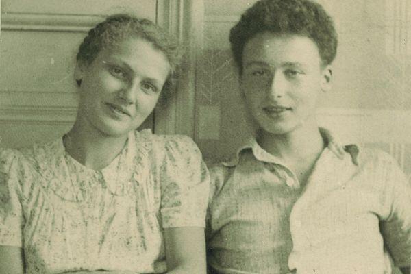 Denise Jacob, avec son cousin André Weismann, avant la guerre et son engagement dans la Résistance à Lyon. Elle sera déportée à Ravensbruck et lui fusillé en 1945.