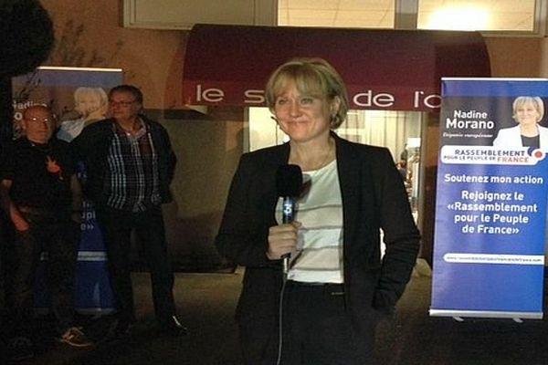Béziers (Hérault) - Nadine Morano invitée du 19/20 de France 3 Languedoc-Roussillon, en duplex - 29 octobre 2015.