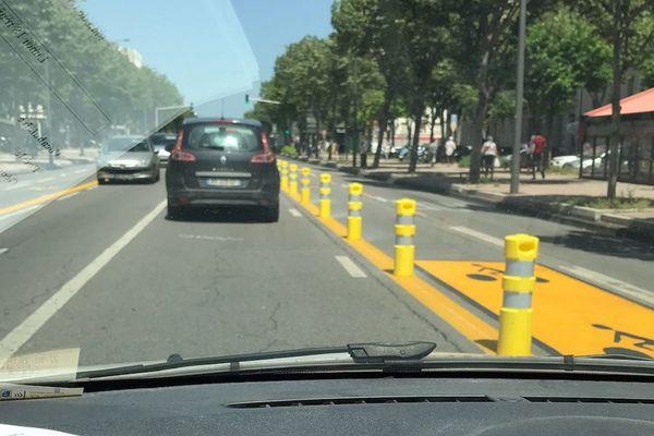 Une piste cyclable sécurisée reliant le Rond Point du Prado à Castellane