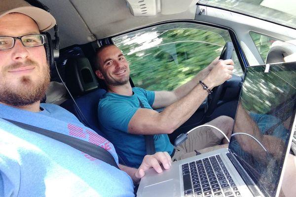 Bertrand Vinsu et Anthony Zacconi ont pris la route lundi 24 juin à Besançon pour un voyage de près de 3000 kilomètres. Objectif : la réalisation d'un documentaire sur le vin, de la Franche-Comté à la Moldavie.