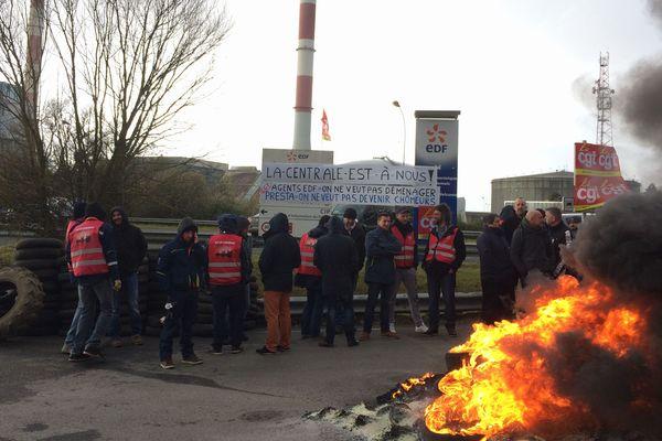 Les salariés de la centrale de Cordemais en grève le 29 mars 2018
