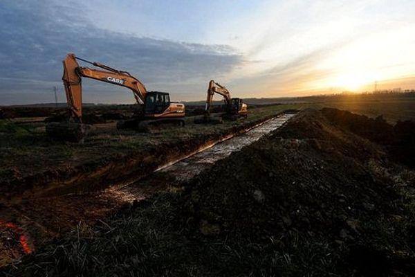 Fouilles archéologiques dans le Pas-de-Calais en 2008, en prévision du chantier...