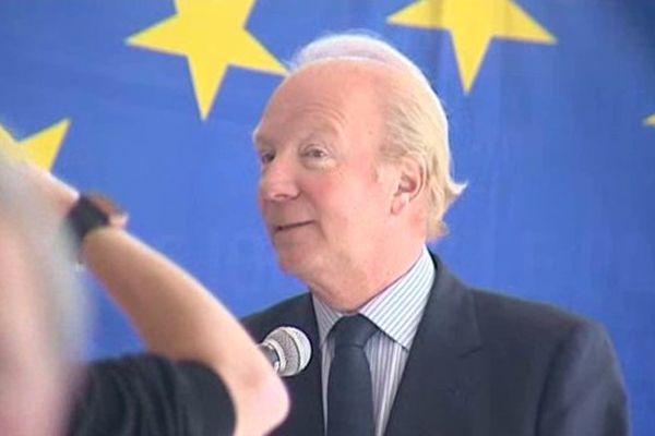 Brice Hortefeux a lancé le 23 avril à Chilhac la campagne de l'UMP pour les élections européennes.