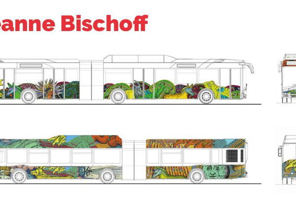Le projet artistique proposé par Jeanne Bischoff pour les bus de Strasbourg.