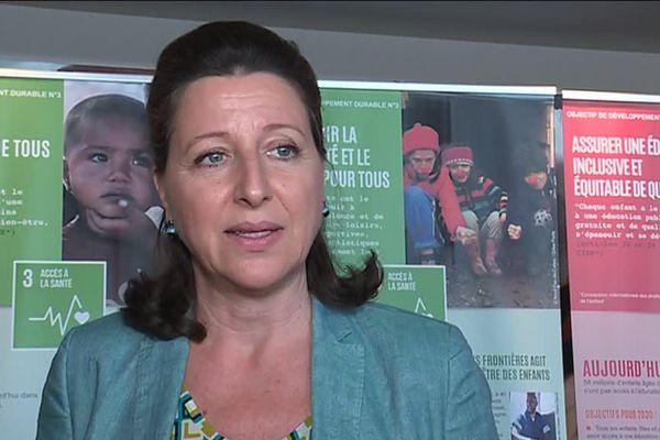 Agnès Buzyn, ministre de la Santé et des Solidarités lors de son passage à Nantes pour les assises nationales de la protection de l'enfance le 29 juin 2018.