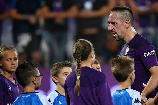 Franck Ribéry sous le maillot de la Fiorentina en août dernier.