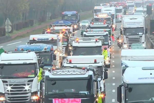 Des opérations escargot menées par des poids lourds ralentiront la circulation sur les rocades intérieure et extérieure de Toulouse dès 8 Heures ce samedi matin.