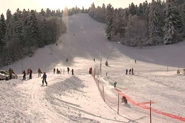 avec la neige, le domaine est tout de suite plus sympa...