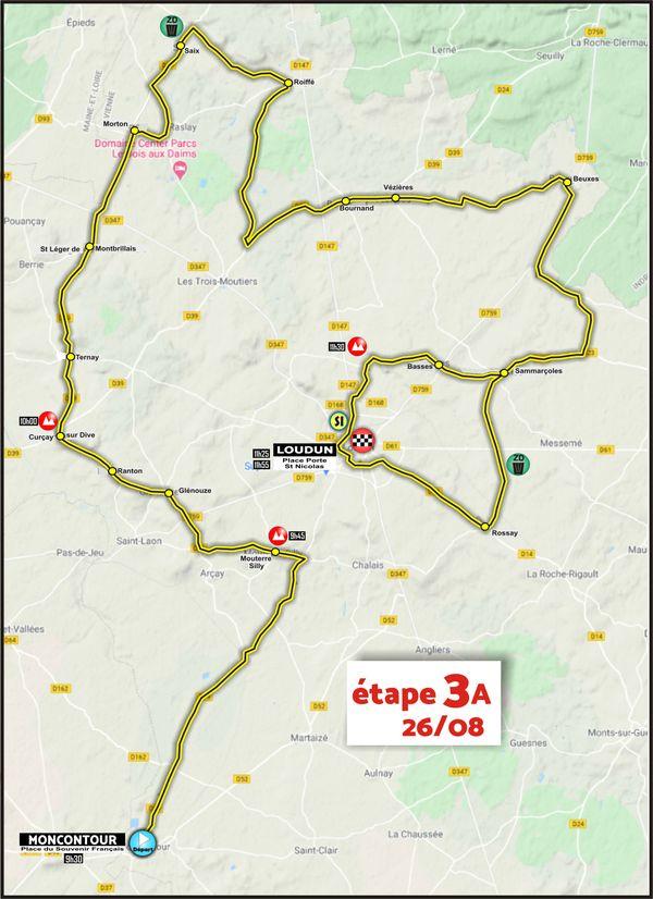 Etape 3 - Moncontour > Loudun - Tour du Poitou-Charentes en Nouvelle-Aquitaine