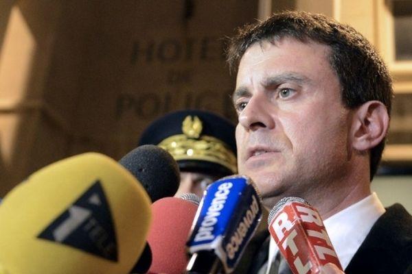 Manuel Valls à Marseille à l'issue de sa visite en Corse