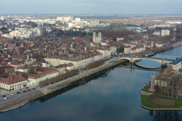 La ville de Chalon-sur-Saône, en novembre 2020.