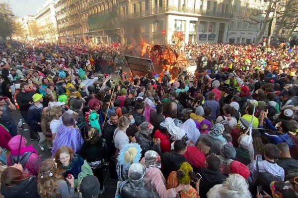 """""""Carnaval de Marseille, le dimanche 21 mars 2021 en dépit des mesures sanitaires liées à l'épidémie de Covid-19."""