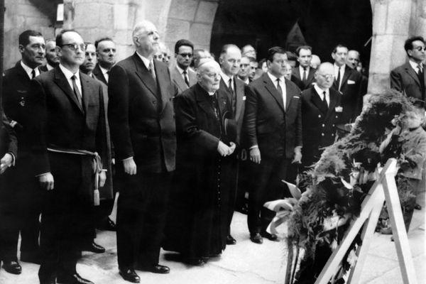 La deuxième visite du Général de Gaulle à Oradour-sur-Glane, le 20 mai 1962.