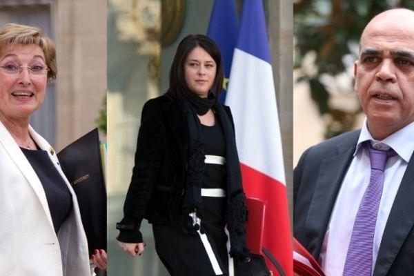 Anne-Marie Escoffier, Sylvia Pinel et Kader Arif