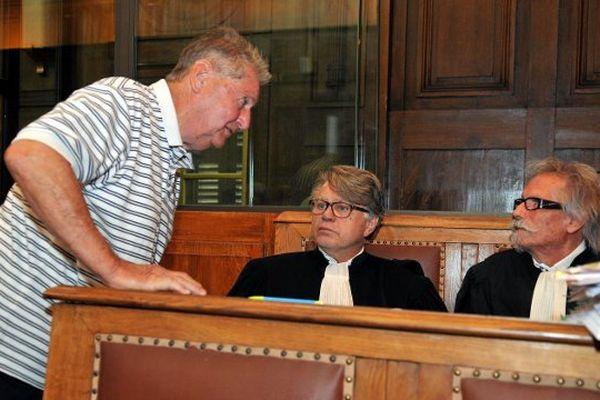René Galinier et ses deux avocats Me Collard et Me Bousquet
