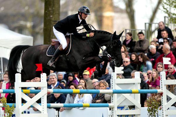 Le cavalier Nicolas Delmotte au Jumping International de Maubeuge, samedi