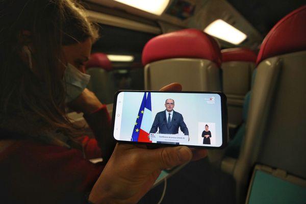 Le train de nuit Paris-Nice fait son retour avec Castex en passager, en vrai pas sur smartphone !