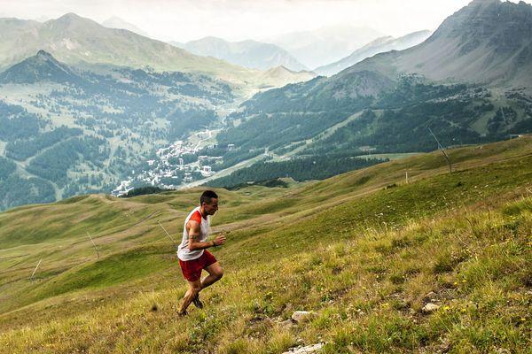 Julien Navarro, vainqueur kv, en pleine course
