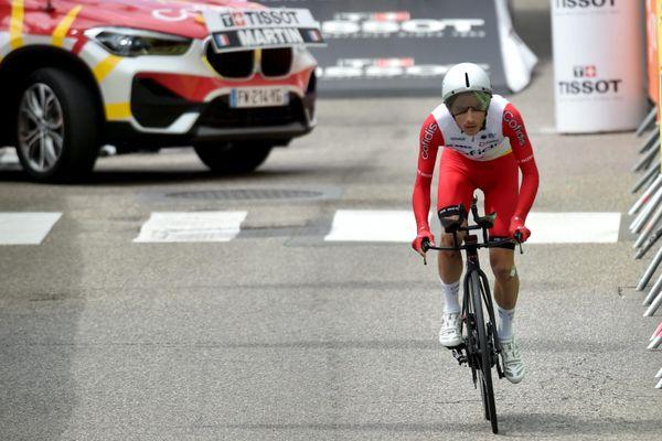 Le coureur ornais Guillaume Martin a volontairement lâché du temps lors du contre-la-montre entre Changé et Laval.