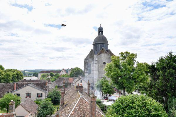 La ville de Provins (Seine-et-Marne) et sa citée médiévale classée au patrimoine mondiale de l'UNESCO.