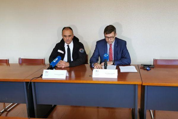 Le procureur de la République de Senlis, Jean-Baptiste Bladier en conférence de presse jeudi 31 octobre 2019.