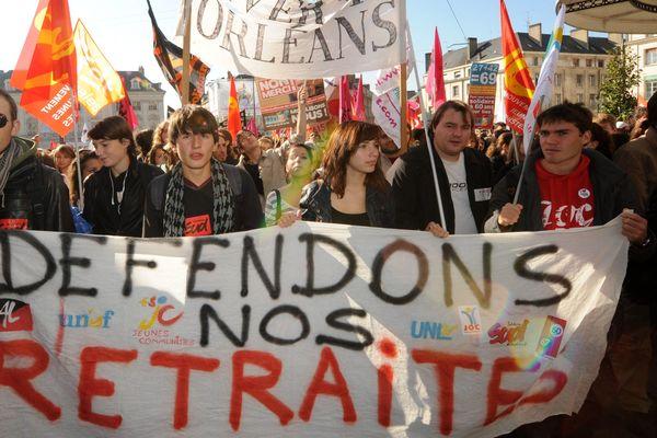 Archive : manifestation du 12 octobre 2010 à Orléans.