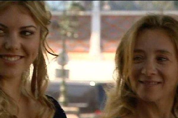 """Héloïse Martin et Sylvie Testud, lors de la présentation en avant-première du film """"Tamara"""" de Alexandre Castagnetti."""