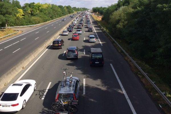 Bouchon sur l'autoroute A10 au nord d'Orléans (photo d'illustration)