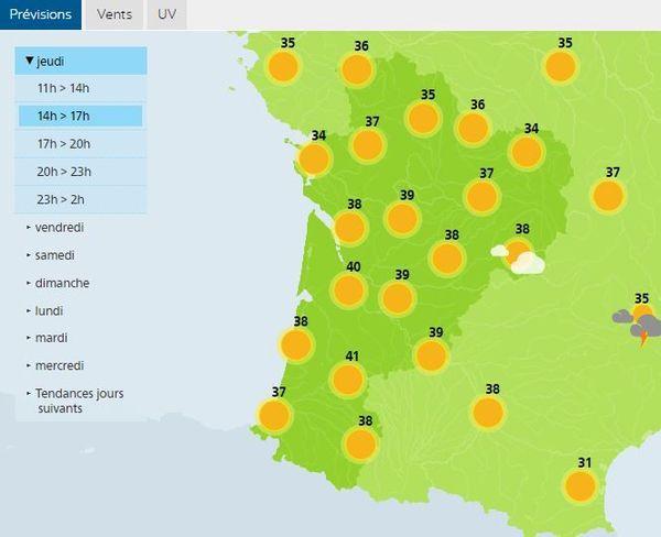 Les prévisions de Météo France pour la Nouvelle-Aquitaine ce 30 juillet