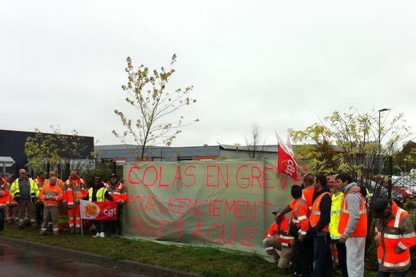 Les salariés de la Colas (Mettray) en colère