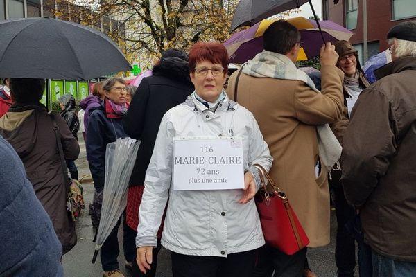 Jeanne dans la marche contre les violences sexuelles et sexistes à Montargis ce 23 novembre 2019