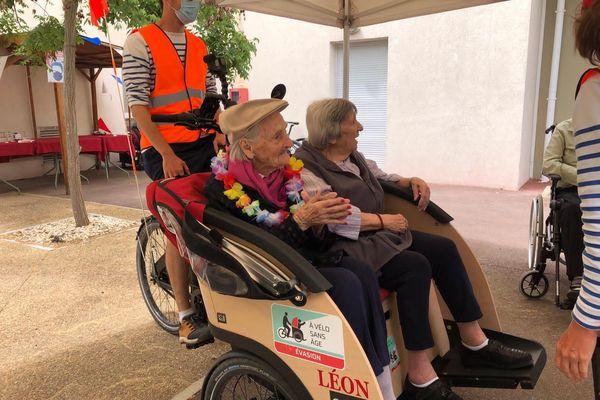 Balades en triporteur pour personnes âgées