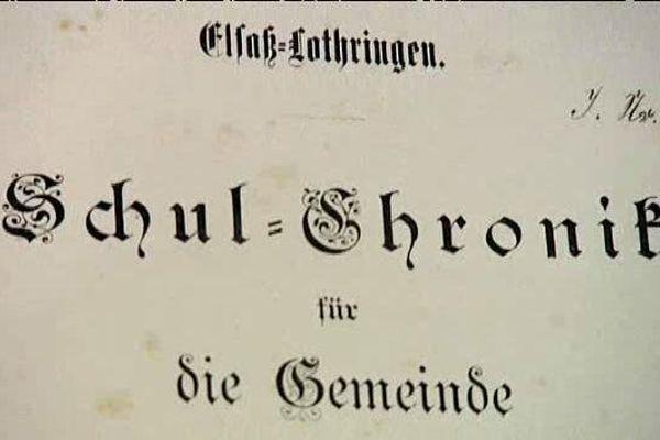 Carnets scolaires ou Schul-Chroniken