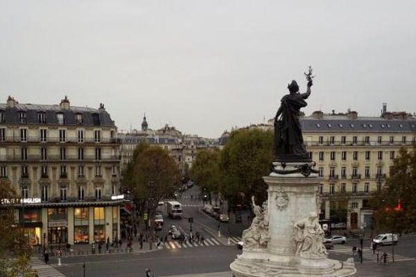 La place de la République, à Paris.