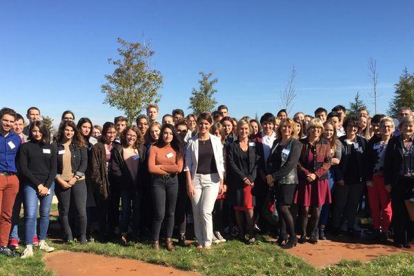 Marlène Schiappa a rencontré une quarantaine de lycéennes et lycéens à Dijon le 5 octobre 2017