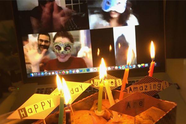 Pour fêter dignement son anniversaire en période de confinement, il a fallu se montrer créatif. Un souvenir qui restera gravé !