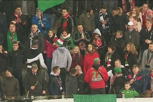 Quelques supporters sedanais ont bravé le froid
