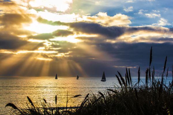 Reflets sur la côte bretonne...