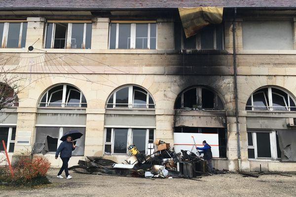 Un incendie criminel a eu lieu à Besançon, samedi 19 décembre 2020.