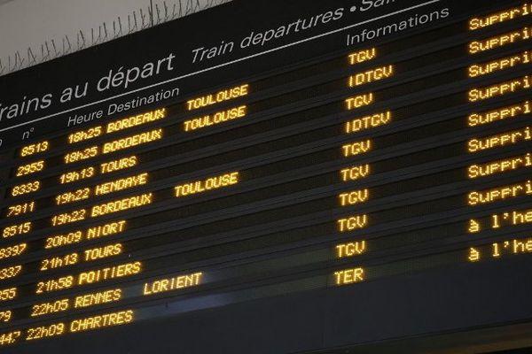 Déjà ce vendredi soir 27 mai un incident technique à Montparnasse avait perturbé le trafic SNCF