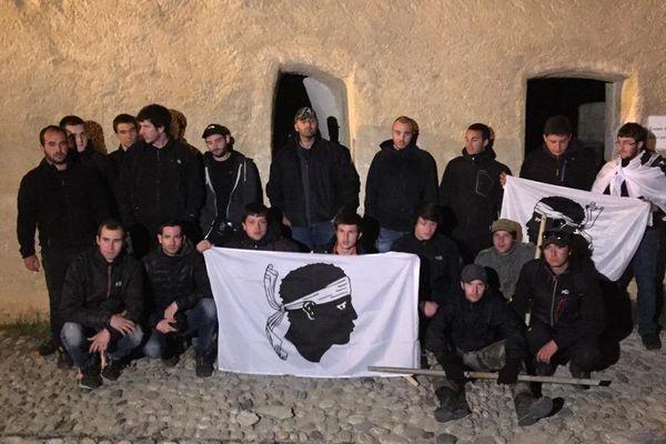 Première nuit d'occupation par des jeunes nationalistes corses de la citadelle de Corte