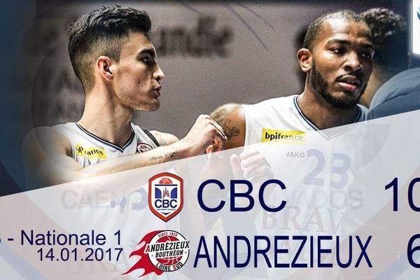 Ecrasante victoire du CBC le 14 janvier face à Andrezieux