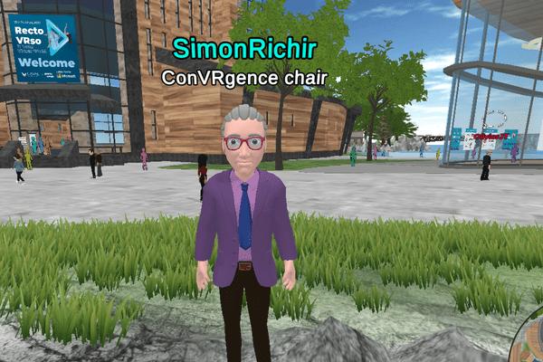 Laval Virtual 2020, l'avatar de Simon Richir