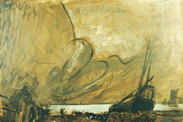"""""""Le halage du bateau"""" Eugène Trigoulet"""