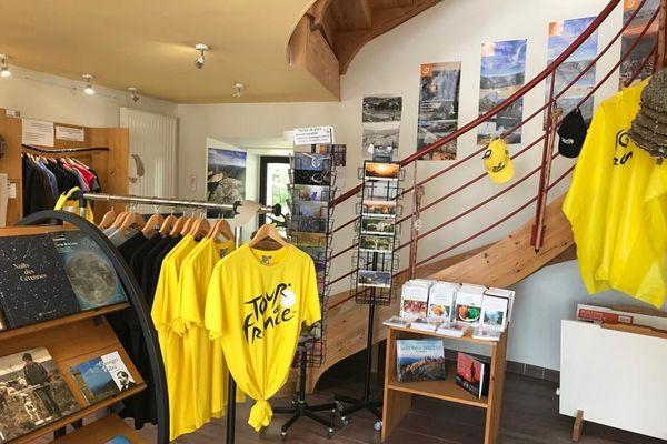 La Maison du tourisme et du parc national des Cévennes aux couleurs du Tour de France.