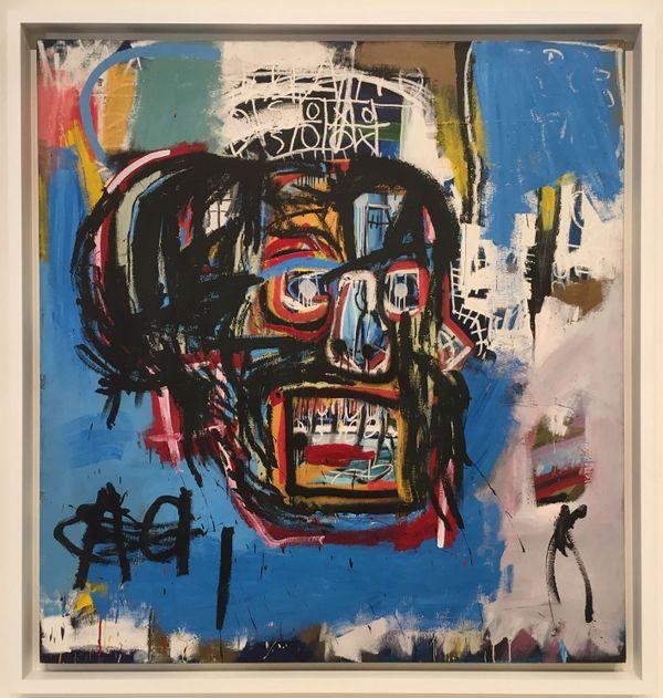 La tête bleue de Jean-Michel Basquiat, revendue 110 millions de dollars l'an dernier.