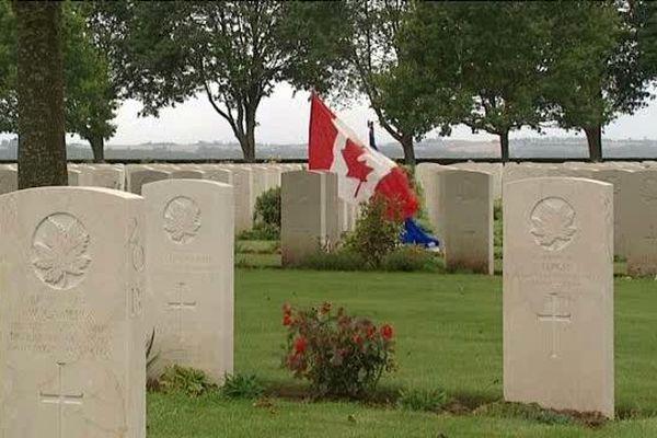 Le cimetière canadien de Cintheaux, dans la plaine de Caen