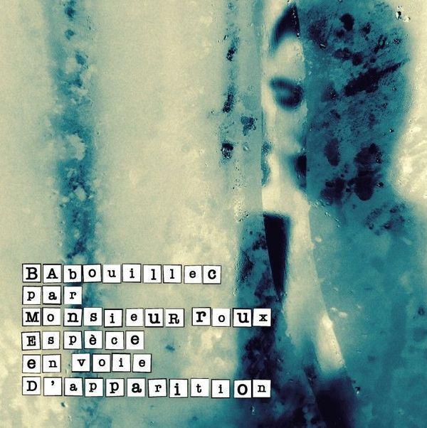 """Pochette album """"Espèce en voie d'apparition"""" Babouillec par Monsieur Roux"""